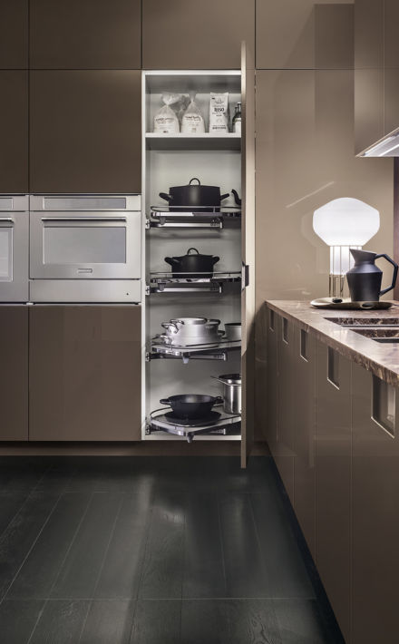 Lemans tall corner cupboard